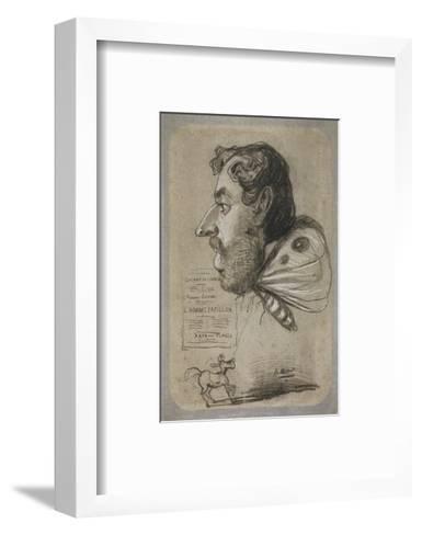 Caricature of Jules Didier-Claude Monet-Framed Art Print