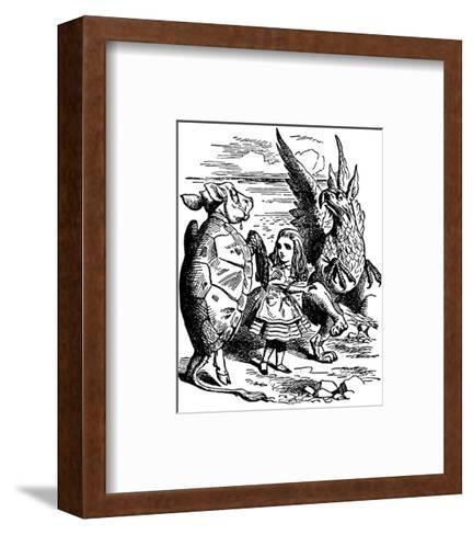 Alice's Adventure's in Wonderland-John Tenniel-Framed Art Print