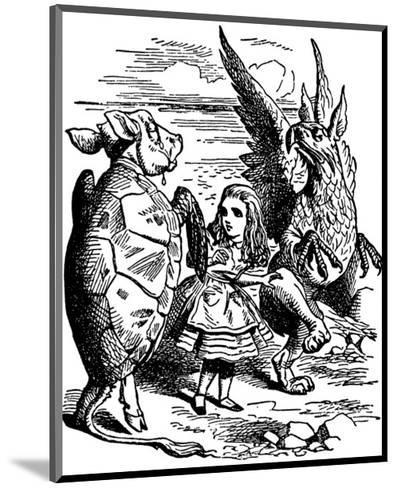 Alice's Adventure's in Wonderland-John Tenniel-Mounted Premium Giclee Print