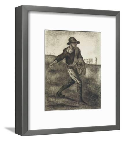 Sower (after Millet)-Vincent van Gogh-Framed Art Print