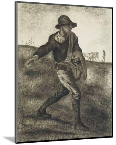 Sower (after Millet)-Vincent van Gogh-Mounted Premium Giclee Print