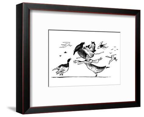 There Was A Young Lady Whose Bonnet, Came Untied When The Birds Sate Upon I-Edward Lear-Framed Art Print