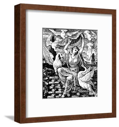 The Six Swans-Walter Crane-Framed Art Print