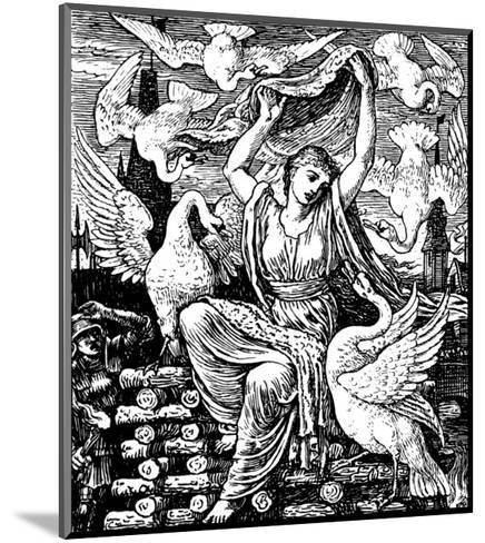 The Six Swans-Walter Crane-Mounted Premium Giclee Print