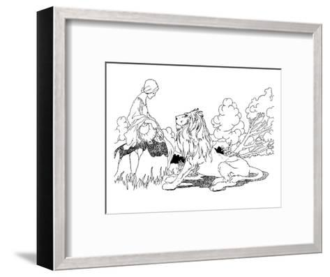 The Lion in Love-Charles Robinson-Framed Art Print