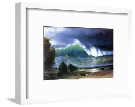 Coast of Emerald Lake-Albert Bierstadt-Framed Art Print
