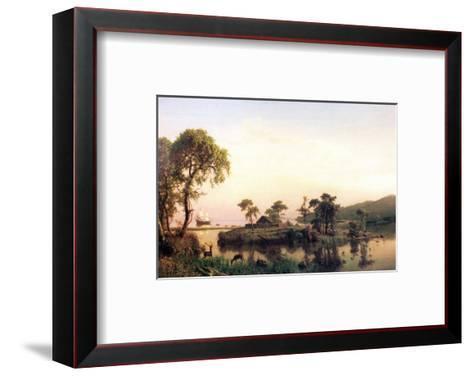 Gosnold on the Island of Cuttyhunk-Albert Bierstadt-Framed Art Print