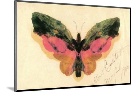 Butterfly-Albert Bierstadt-Mounted Premium Giclee Print