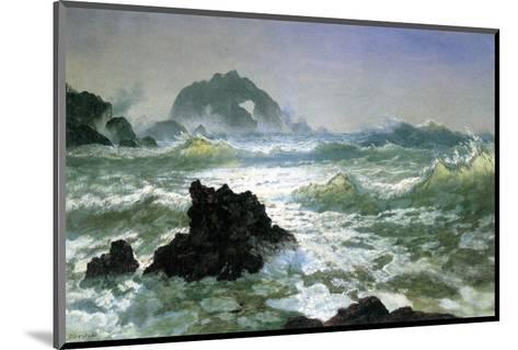 Seal Rock, California-Albert Bierstadt-Mounted Premium Giclee Print