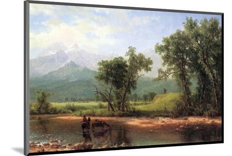 Wind River Mountains, Wyoming-Albert Bierstadt-Mounted Premium Giclee Print