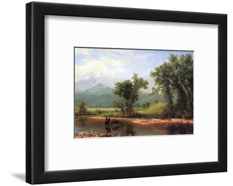 Wind River Mountains, Wyoming-Albert Bierstadt-Framed Art Print