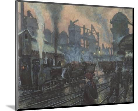 Ironworks-Hans Baluschek-Mounted Premium Giclee Print