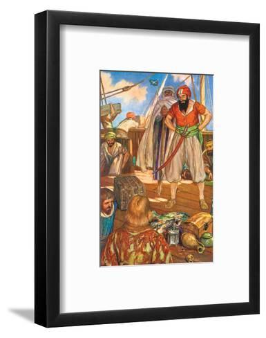 No Merchant Ship Could Count Upon Making A Journey in Peace-Stephen Reid-Framed Art Print
