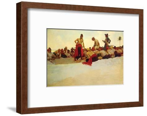 So The Treasure Was Divided-Howard Pyle-Framed Art Print