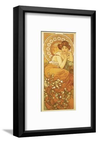 The Precious Stones: La Topaze-Alphonse Mucha-Framed Art Print