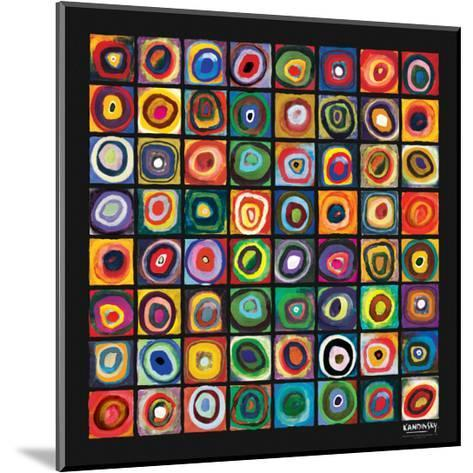 Color of Squares-Wassily Kandinsky-Mounted Premium Giclee Print