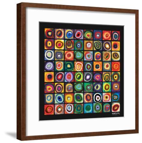 Color of Squares-Wassily Kandinsky-Framed Art Print