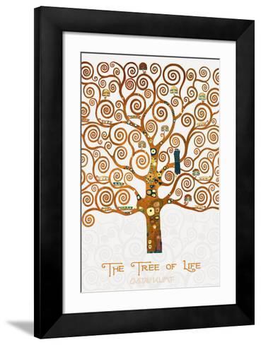 The Tree of Life Pastiche Marzipan-Gustav Klimt-Framed Art Print