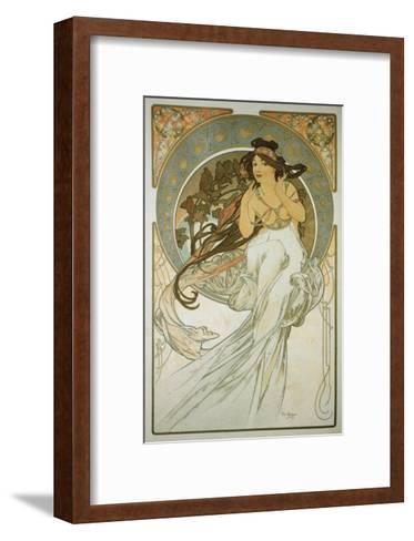 The Arts: La Musique-Alphonse Mucha-Framed Art Print