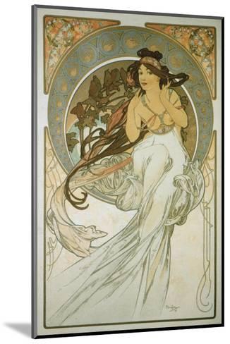 The Arts: La Musique-Alphonse Mucha-Mounted Premium Giclee Print