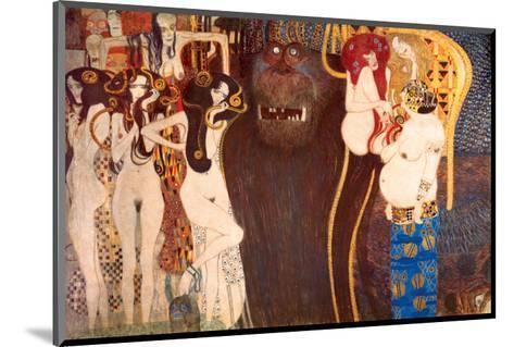The Hostile Force, c.1902-Gustav Klimt-Mounted Premium Giclee Print