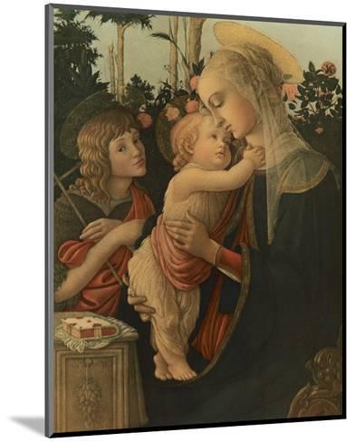 La Vierge avec l'Enfant et St. Jean-Sandro Botticelli-Mounted Premium Giclee Print