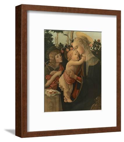 La Vierge avec l'Enfant et St. Jean-Sandro Botticelli-Framed Art Print