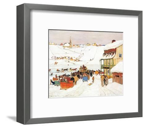 Horse Race in Winter-Clarence Alphonse Gagnon-Framed Art Print