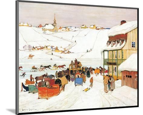 Horse Race in Winter-Clarence Alphonse Gagnon-Mounted Premium Giclee Print