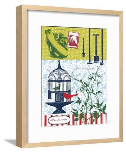 In the Garden-H?l?ne Druvert-Framed Art Print