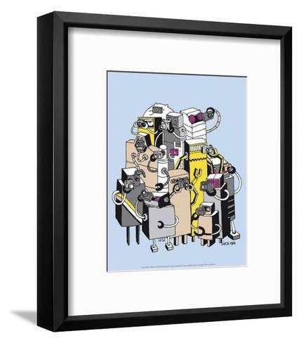 Robots 2-Ghica Popa-Framed Art Print
