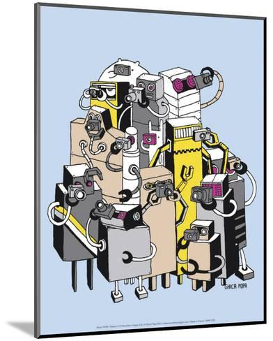 Robots 2-Ghica Popa-Mounted Art Print