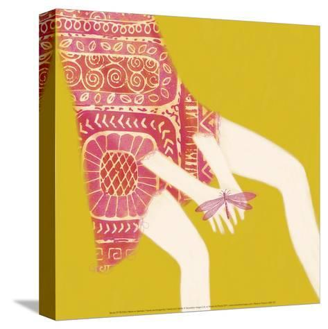 Hands And Dragonfly-Nicole De Rueda-Stretched Canvas Print