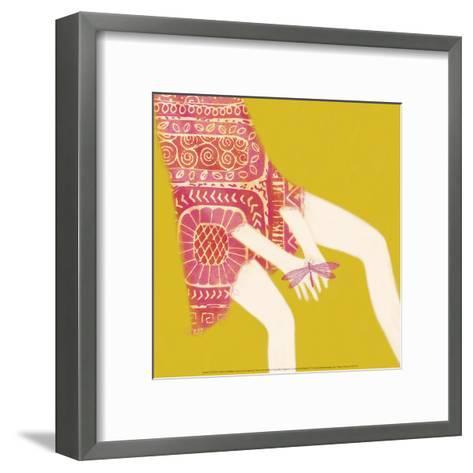 Hands And Dragonfly-Nicole De Rueda-Framed Art Print