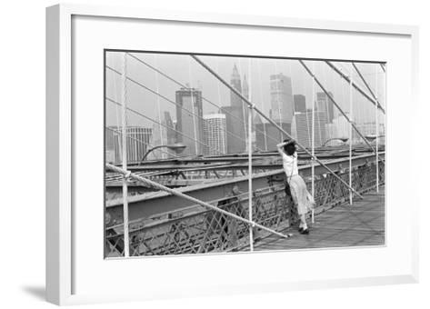 Brooklyn Bridge, New York, 1982-Édouard Boubat-Framed Art Print