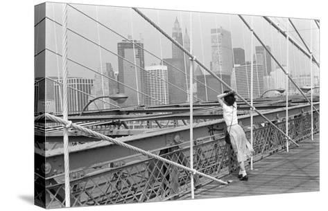Brooklyn Bridge, New York, 1982-Édouard Boubat-Stretched Canvas Print