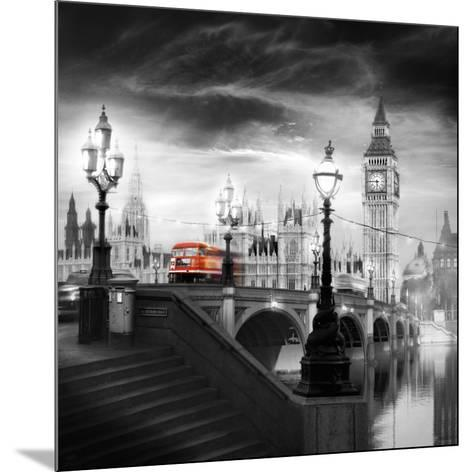 London Bus III-Jurek Nems-Mounted Art Print