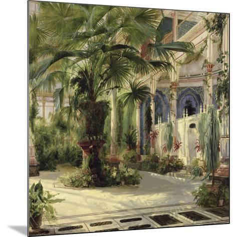 Interior of the Palm House at Potsdam I-Karl Blechen-Mounted Art Print