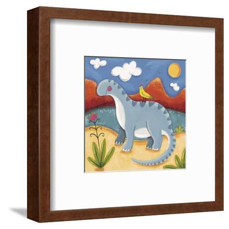 Baby Dippy The Diplodocus-Sophie Harding-Framed Art Print
