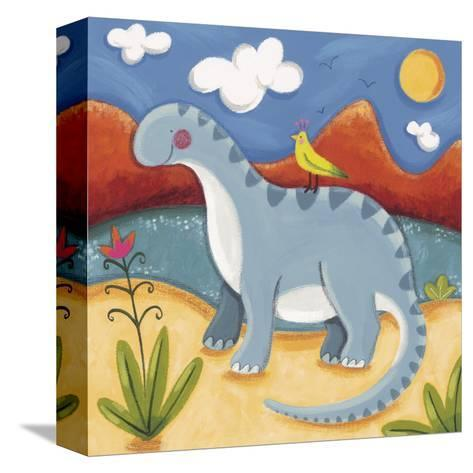 Baby Dippy The Diplodocus-Sophie Harding-Stretched Canvas Print