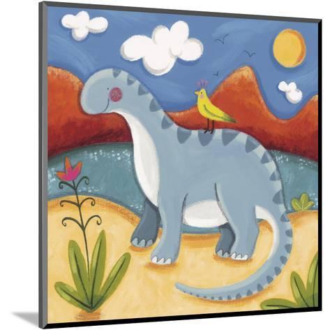 Baby Dippy The Diplodocus-Sophie Harding-Mounted Art Print