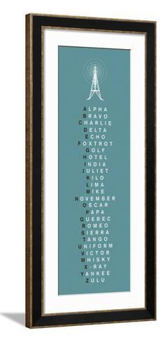 Phonetic Alphabet II-The Vintage Collection-Framed Art Print