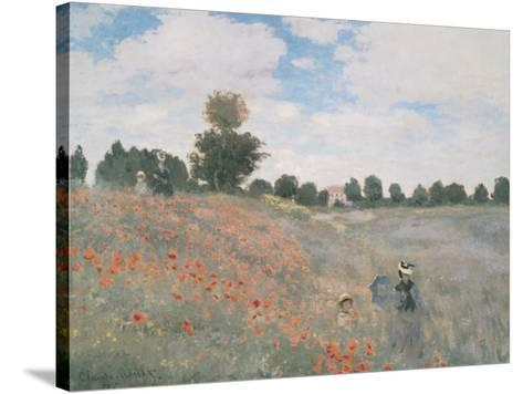 Wild Poppies, Near Argenteuil-Claude Monet-Stretched Canvas Print