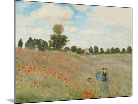 Wild Poppies, Near Argenteuil-Claude Monet-Mounted Art Print