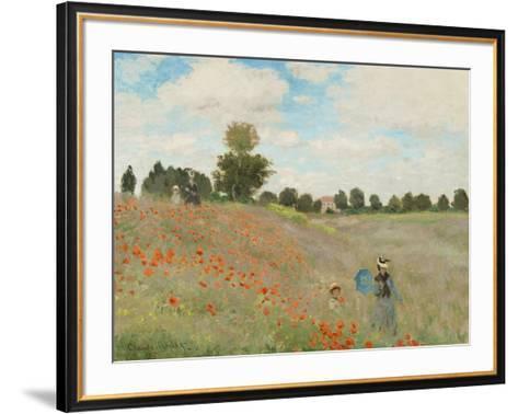 Wild Poppies, Near Argenteuil-Claude Monet-Framed Art Print