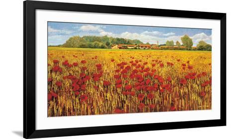 Campo di Papaveri-Andrea Del Missier-Framed Art Print