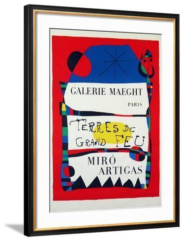 Terres De Grand Feu-Joan Mir?-Framed Art Print