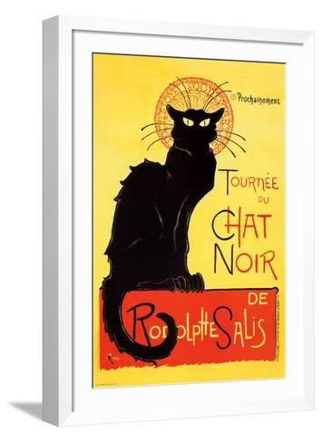 Steinlen - Chat Noir-Th?ophile Alexandre Steinlen-Framed Art Print