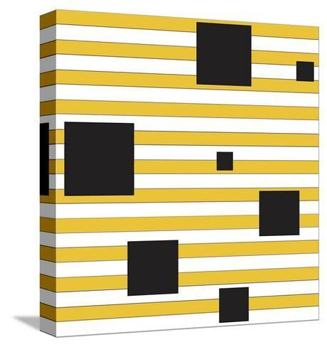 Black Block on Stripe-Dan Bleier-Stretched Canvas Print