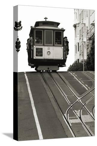 Cable Car Breaking the Crest-Christian Peacock-Stretched Canvas Print